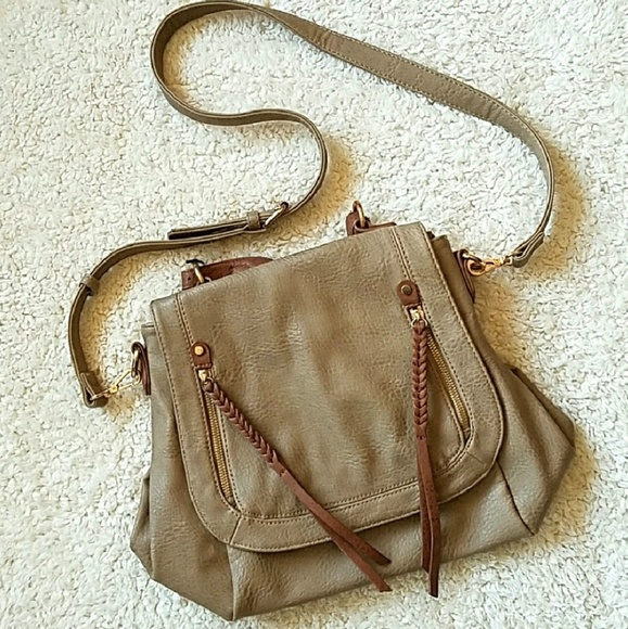 No Aid Handbags - PURSE TAN/TAUPE LEATHER OR LEATHER~LIKE